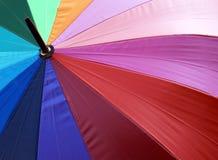 Paraguas colorido de la tela Fotografía de archivo