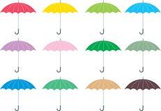 Paraguas coloridos Imagen de archivo libre de regalías