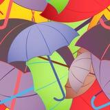 Paraguas coloridos Fondo inconsútil Foto de archivo