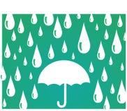 Paraguas con las gotas de agua Fotografía de archivo libre de regalías