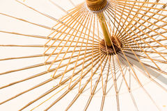 Paraguas de bambú imagen de archivo