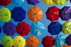Paraguas de Colorfull Fotografía de archivo