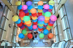 Paraguas de la alameda de compras Fotos de archivo libres de regalías