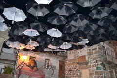 Paraguas de la noche Imagenes de archivo