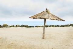 Paraguas de madera del sol Fotos de archivo
