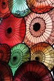 Paraguas de papel Foto de archivo libre de regalías