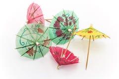 Paraguas de papel para el postre Fotografía de archivo libre de regalías