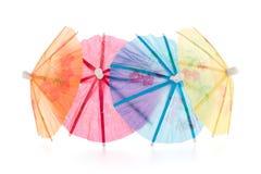 Paraguas de papel para los cócteles Imágenes de archivo libres de regalías