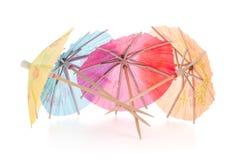 Paraguas de papel para los cócteles Imagen de archivo libre de regalías
