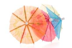 Paraguas de papel para los cócteles Fotos de archivo libres de regalías