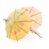Paraguas de papel para los cócteles Imagen de archivo
