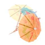 Paraguas de papel para los cócteles Foto de archivo libre de regalías