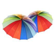 Paraguas del arco iris Fotografía de archivo