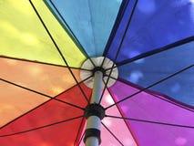 Paraguas del arco iris Imágenes de archivo libres de regalías
