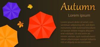Paraguas del aviador del otoño libre illustration