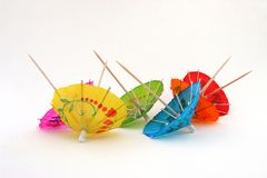 Paraguas del coctel, upside-down Fotografía de archivo libre de regalías