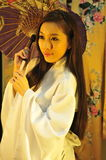 Paraguas del geisha Fotos de archivo