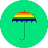 Paraguas del orgullo gay LGBT Imagen de archivo libre de regalías