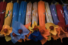Paraguas del papel chino Fotografía de archivo