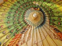 Paraguas del pavo real Foto de archivo libre de regalías