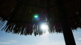 Paraguas del salón del sol almacen de video