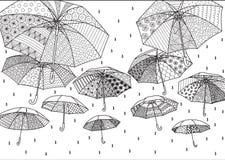 Paraguas del vuelo stock de ilustración