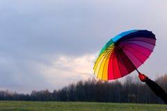 Paraguas a disposición Foto de archivo libre de regalías