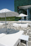 Paraguas en hotel Imagenes de archivo