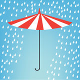 Paraguas en lluvia Imagen de archivo
