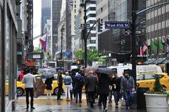 Paraguas en Nueva York Imagen de archivo libre de regalías