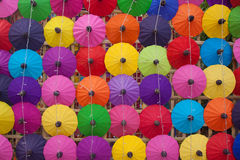 Paraguas hecho a mano Chiang Mai Thailand Imagenes de archivo