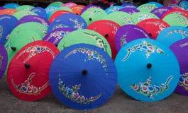 Paraguas hecho a mano Chiang Mai Thailand Imagen de archivo