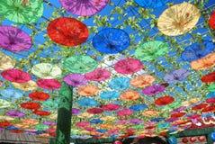 Paraguas hecho a mano chino del oilpaper Fotografía de archivo