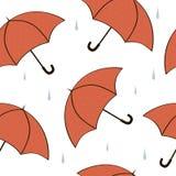 Paraguas inconsútiles de la textura Stock de ilustración