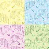 Paraguas inconsútiles de la textura Ilustración del Vector