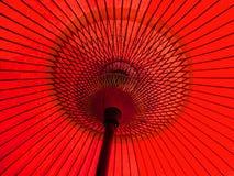 Paraguas japonés rojo Foto de archivo libre de regalías