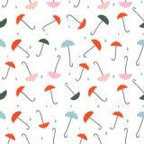 Paraguas - modelo inconsútil colorido libre illustration