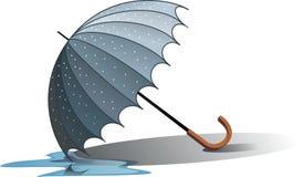 Paraguas mojado Imagenes de archivo