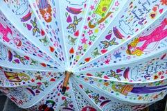 Paraguas multicolor Imagenes de archivo