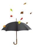 Paraguas negro Imagen de archivo libre de regalías