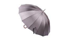 Paraguas negro con la manija de madera Imagen de archivo libre de regalías