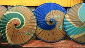 Paraguas orientales Fotografía de archivo