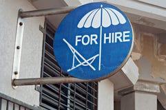 Paraguas para el alquiler imagen de archivo