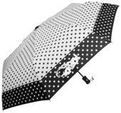 Paraguas punteado blanco y negro Vista lateral imagen de archivo libre de regalías