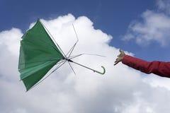 Paraguas quebrado Imagen de archivo libre de regalías