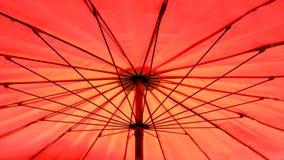 Paraguas rojo del parasol Fotografía de archivo