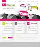 Paraguas rosado del Web site Imagen de archivo libre de regalías