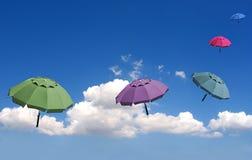 Paraguas soñadores Imagen de archivo libre de regalías