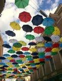 Paraguas sobre Brno Fotografía de archivo libre de regalías