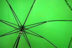 Paraguas verde Foto de archivo